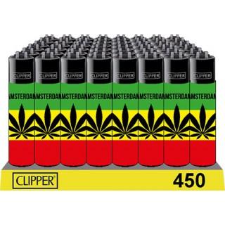 """Зажигалки CLIPPER """"Rasta Leaf"""""""