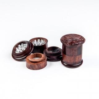 Деревянный алюминиевый гриндер-поллинатор Лист