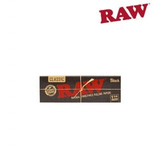 Бумага для самокруток RAW BLACK 1' 1/4 (77-44мм)