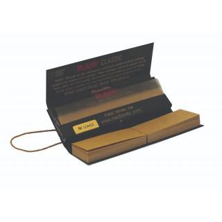 Бумага для самокруток RAW BLACK 1/4 2в1 (77-44мм)